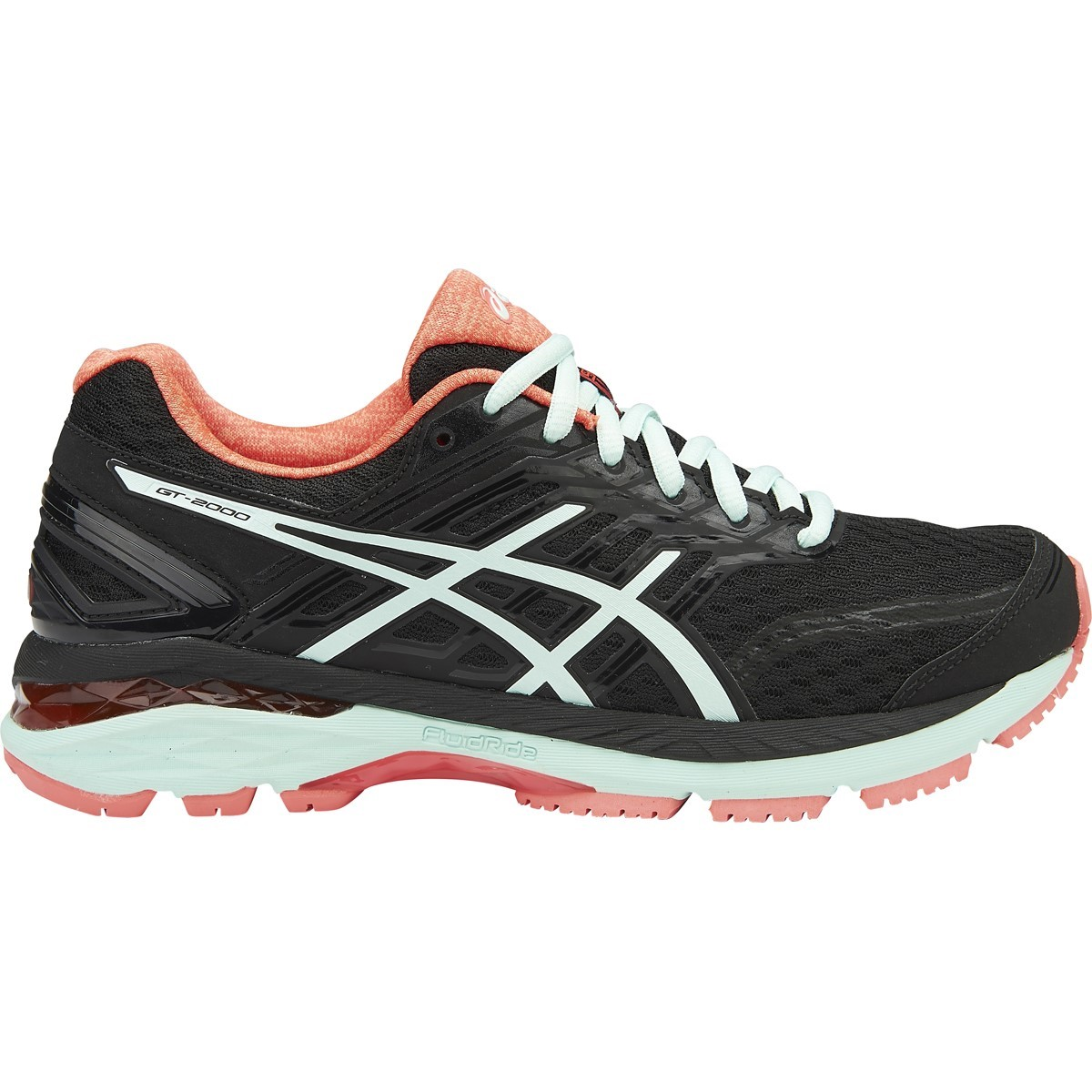 Pink And Black Asics Running Shoes