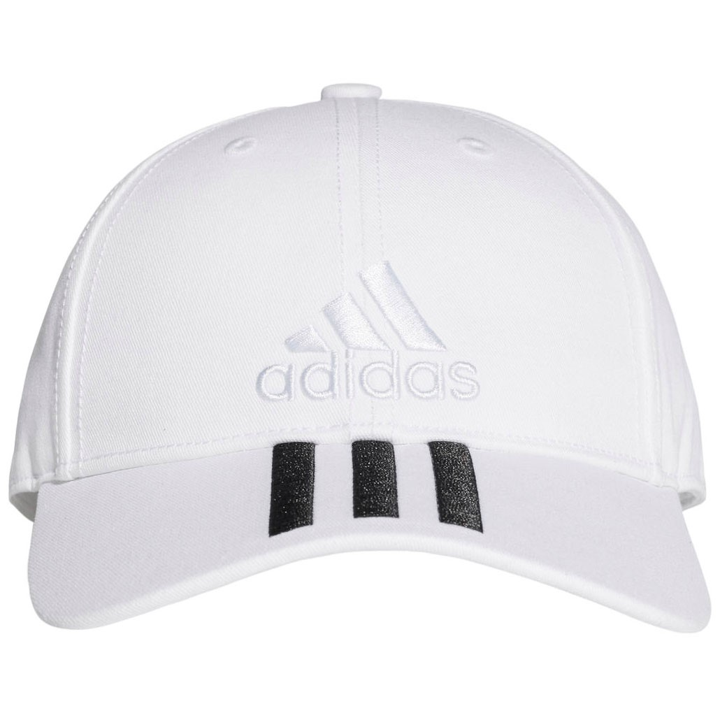 Adidas Six-Panel Classic 3-Stripes Adult Training Cap - White White ... bd54207917b