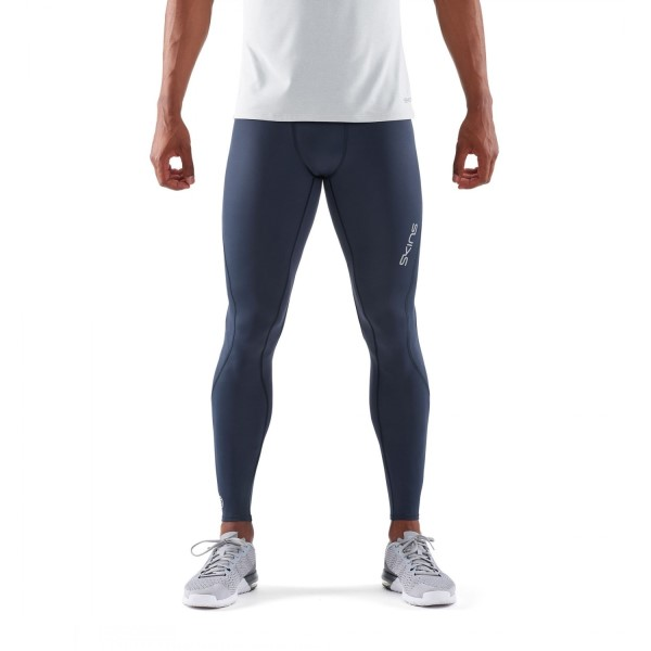 Skins DNAmic Core Mens Long Compression Tights - Navy Blue