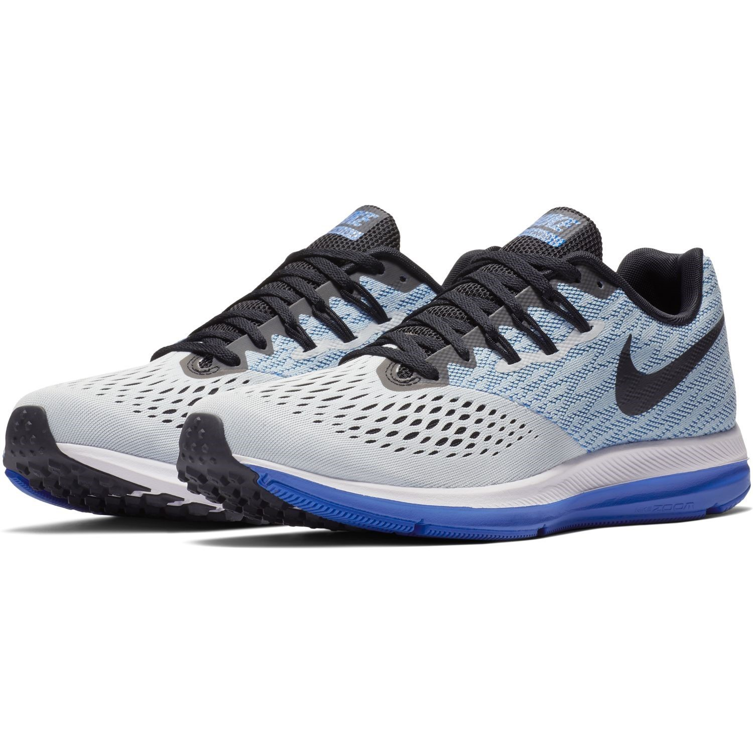 6ab4b3bf63d Nike Zoom Winflo 4 - Mens Running Shoes - Pure Platinum Black Hyper Royal