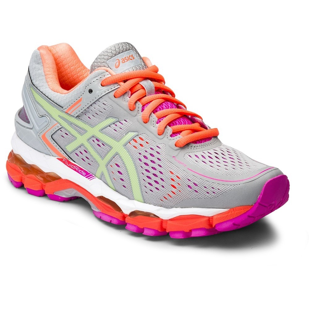 asics gel kayano 22 d womens running shoes silver grey pistachio fiery coral online. Black Bedroom Furniture Sets. Home Design Ideas