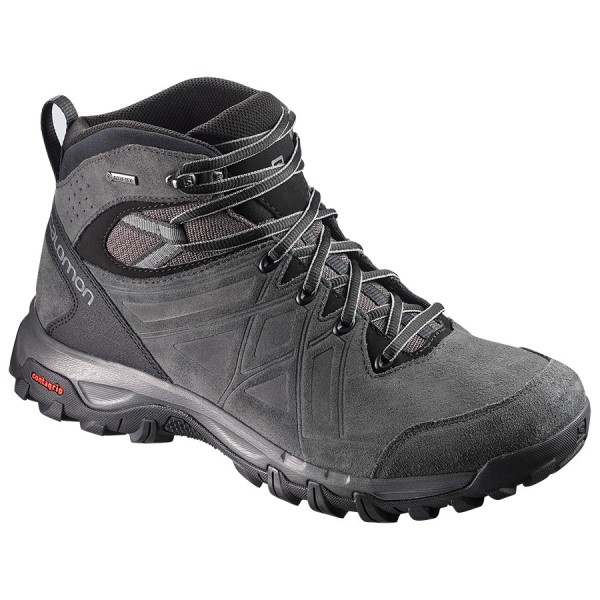 Salomon Evasion 2 Mid Leather GTX - Mens Trail Hiking Shoes - Magnet/Phantom/Quiet Shade