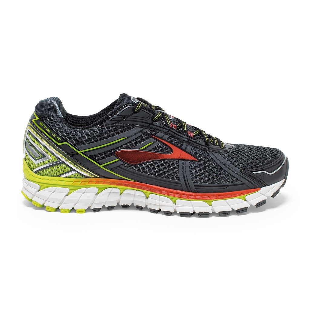 96113af4cb262 Brooks Adrenaline GTS 15 - Mens Running Shoes - Anthracite Lime Punch Orange
