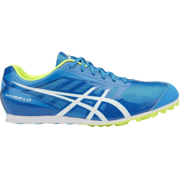 Asics Hyper LD 5 - Mens Track Running Spikes - Diva Blue/White/Safety Yellow
